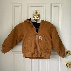 Carhartt Jacket Hooded Lined Boys XXS 4-5
